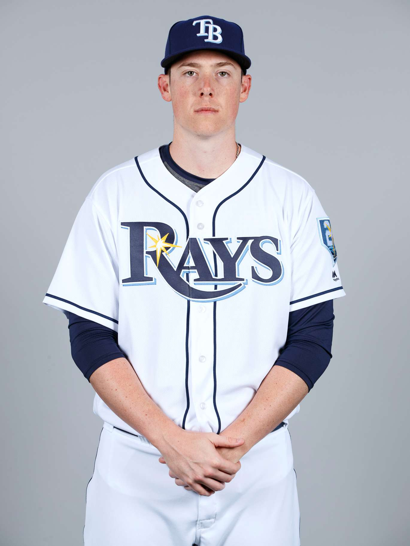 Ryan Yarbrough #48 of the Tampa Bay Rays poses during Photo Day on Sunday, February 18, 2018 at Charlotte Sports Park in Port Charlotte, Florida. (Photo by Mike Carlson/MLB Photos via Getty Images) *** Local Caption *** Ryan Yarbrough