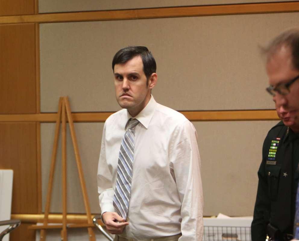 Defendant John Jonchuck leaves the court Friday during a break. SCOTT KEELER | Times