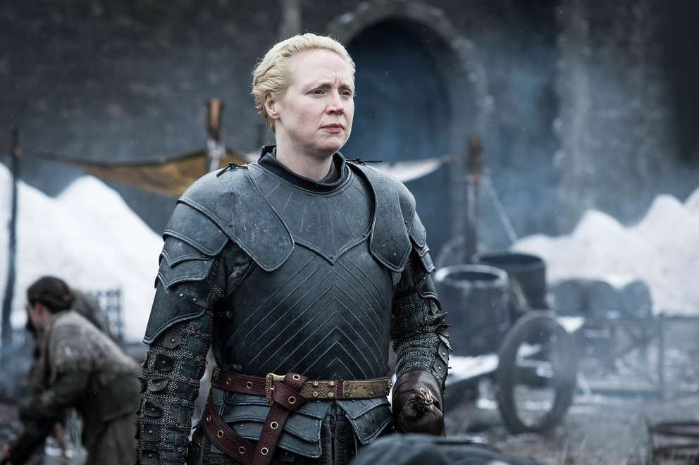 Gwendoline Christie as Brienne of Tarth. [HBO]
