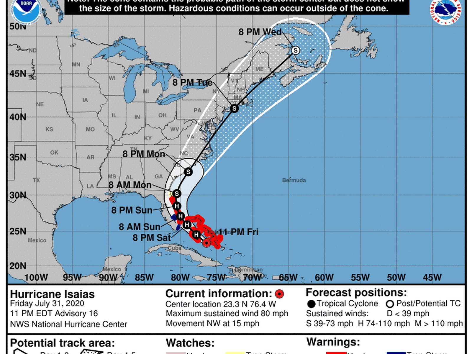 Hurricane Isaias Headed To South Florida As State S First Hurricane Watches Issued