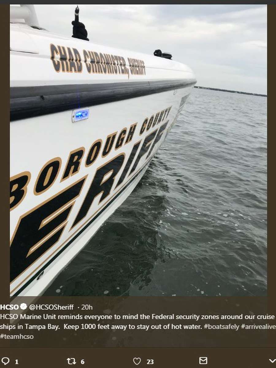 From business cards to the Marine Unit's 40-foot power boat, Sheriff Chronister's name has been added to the office's materials and inventory during his eight months on the job. [Twitter]