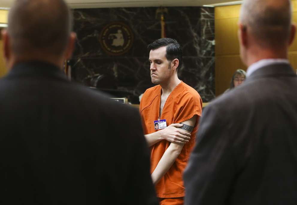 John Jonchuck exits the courtroom during recent hearing. [DIRK SHADD | Times]