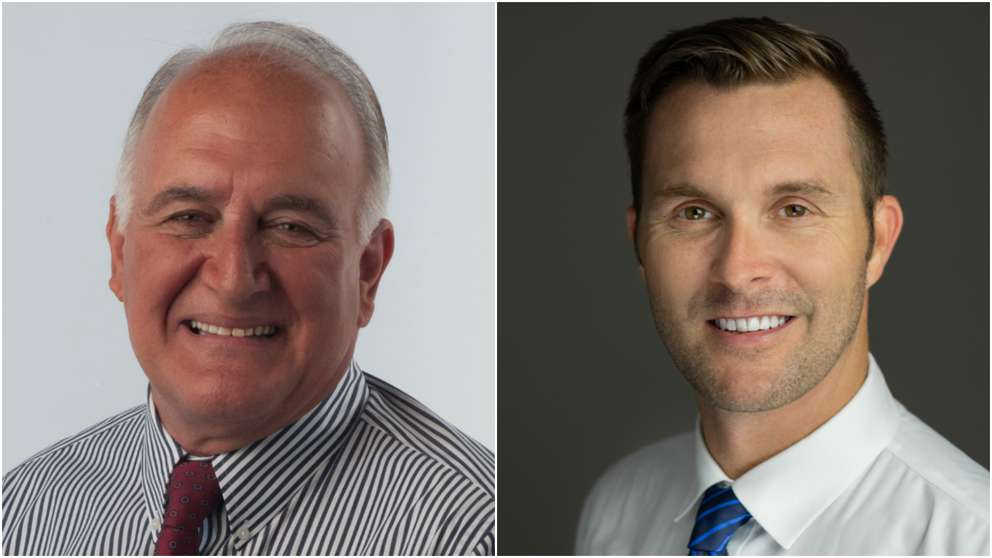 John Dingfelder, left, defeated Stephen Lytle, right, in the race for Tampa City Council District 3. [Dingfelder, Lytle campaigns]