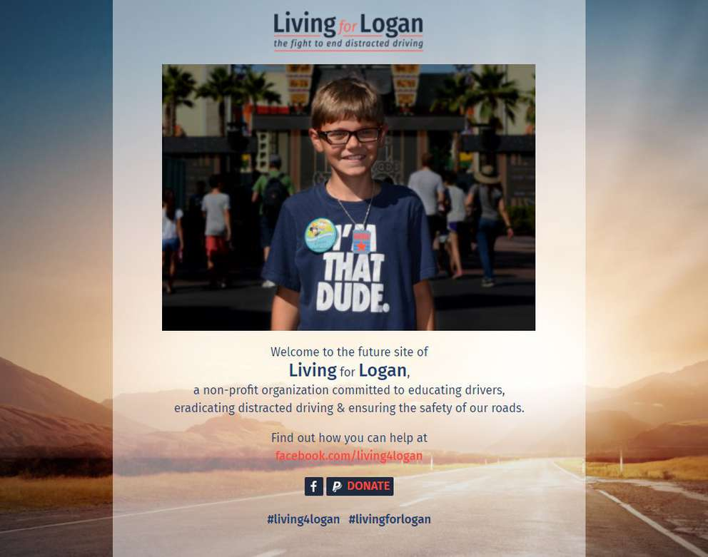 Jordan and Brooke Scherer, formerly of Riverview, have launched a non-profit organization called Living for Logan to raise awareness about distracted driving and push for tougher laws. Their son Logan was killed in a car crash on Interstate 75 in Hernando County on September 2016. [From living4logan.org]