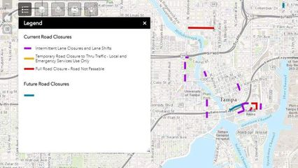 Tampa launches real-time map for closed roads