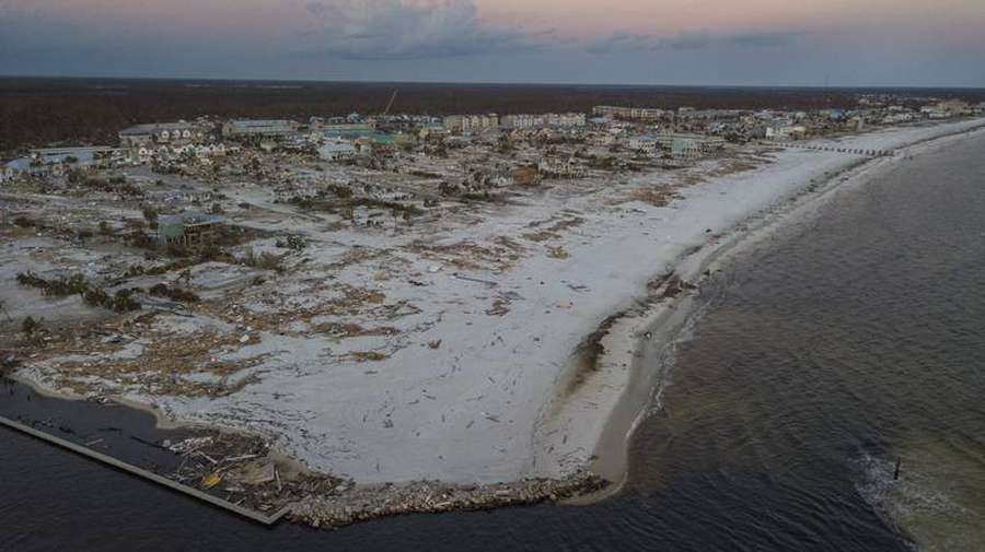 Aerial View Of Mexico Beach Florida One Week After Hurricane Michael Devastated The Area Leaving Tens Thousands Without Shelter And Food