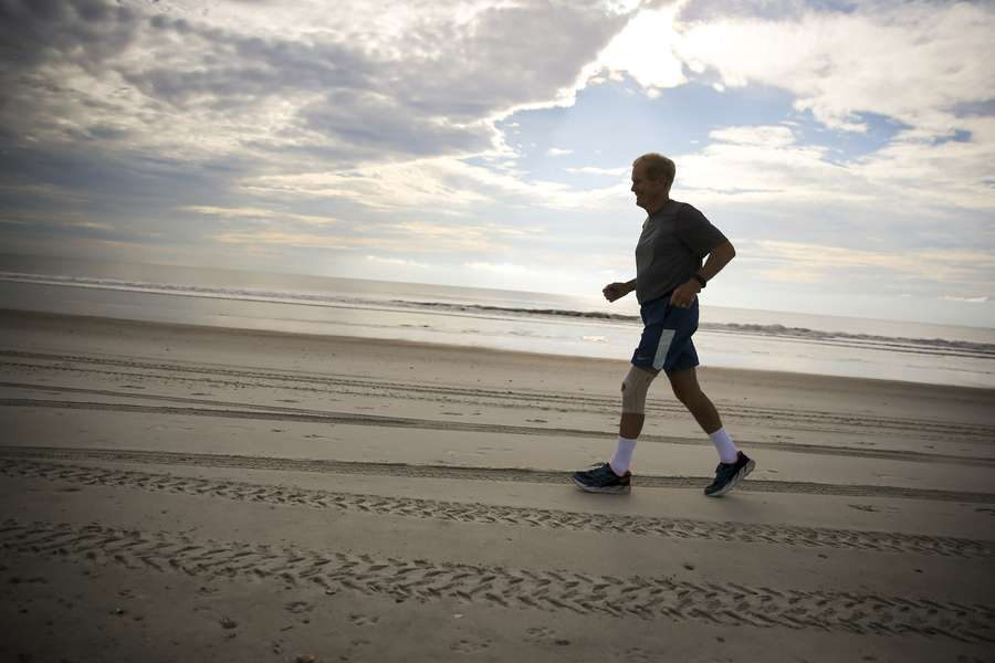 Bill Nelson Runs Along American Beach On Amelia Island South Of Fernandina Sept 2 Will Vragovic Times