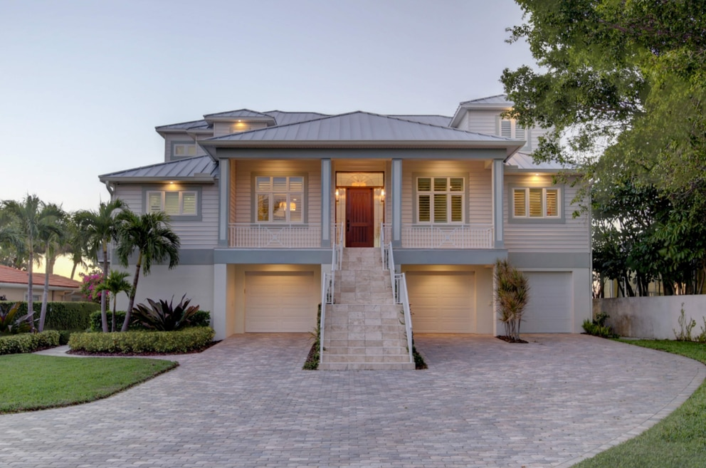 This home in Belleair Shore sold in February, 2017 for $4.55 million. [Courtesy of Cary John Photography]