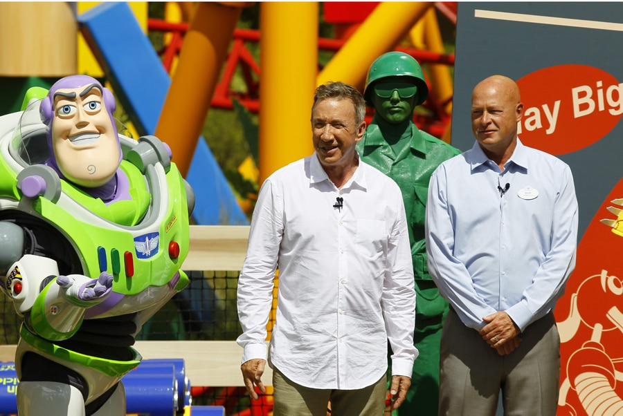 Tim Allen visits Toy Story Land. [Luis Santana | Times]