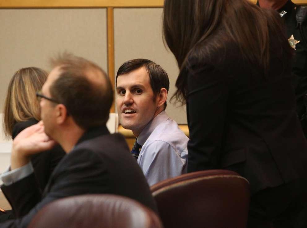 Defendant John Jonchuck smiles in court Tuesday morning. SCOTT KEELER | Times