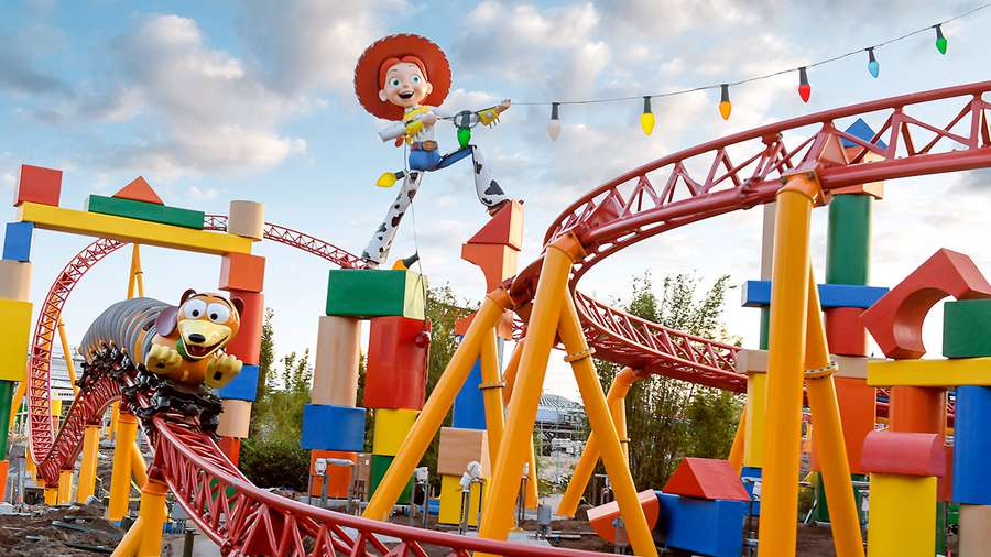 The new Slinky Dog Dash family coaster will put riders on the back of Slink as he twists his coils around curves, hills and drops across Toy Story Land. [Courtesy of Walt Disney World Resorts]