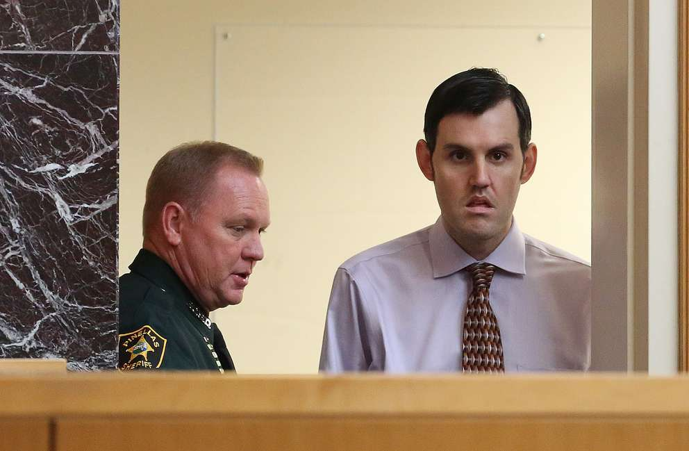 John Jonchuck appears before Judge Chris Helinger during the fourth day of jury selection on Thursday, March 21, 2019, at the Pinellas County Justice Center in Clearwater. [SCOTT KEELER | Times]