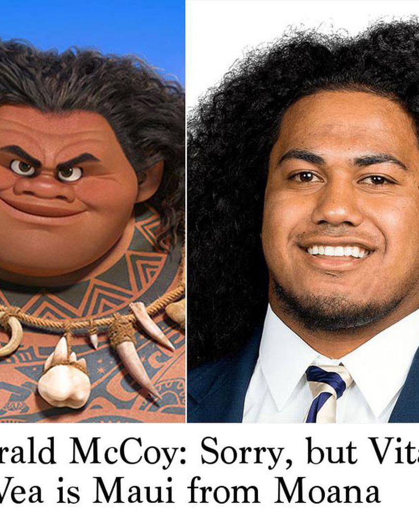 Gerald Mccoy Sorry But Vita Vea Is Maui From Moana