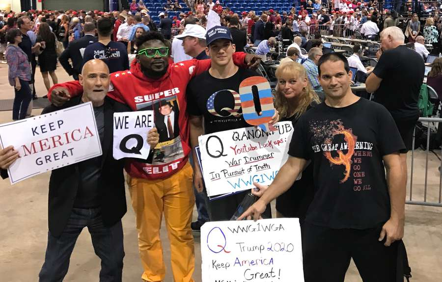 Image result for q anon tampa rally