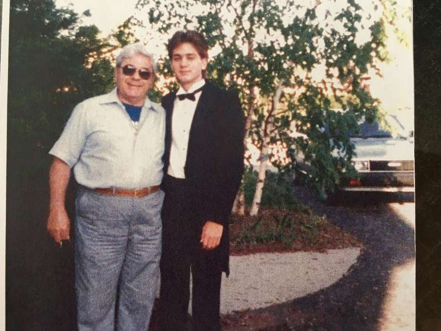 "Grandfather Jack ""Nanu"" Bentivegna, a Marine veteran, stepped into the role of father figure for a young Chad Chronister while Chronister was growing up in York, Pa. They visited here on the day of Chronister's high school prom. Bentivegna died in 2013, the year Chronister was promoted to captain at the Sheriff's Office. [Courtesy Helena Bentivegna]"