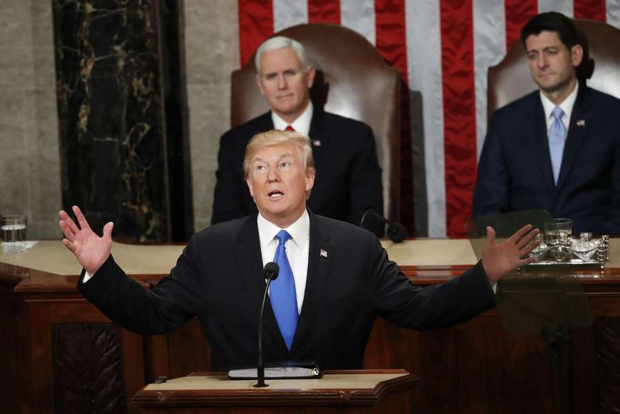 President Donald Trump at the State of the Union