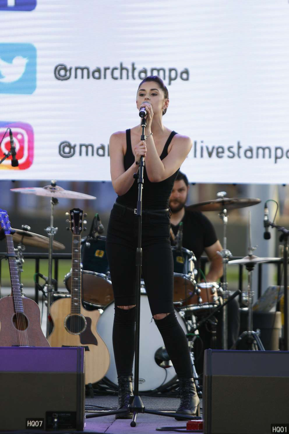 Eden Shireen performs on stage at Bands and Ballots. (LUIS SANTANA | Times)