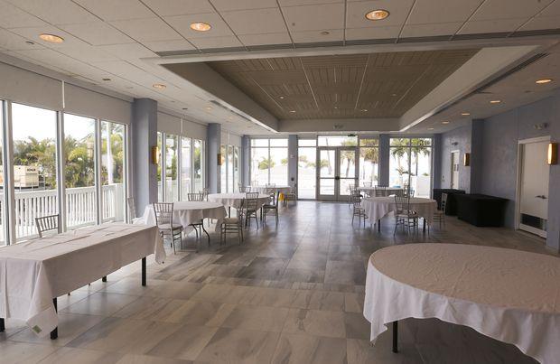 The Gulf Vista Ballroom at the Bellwether Beach Resort.
