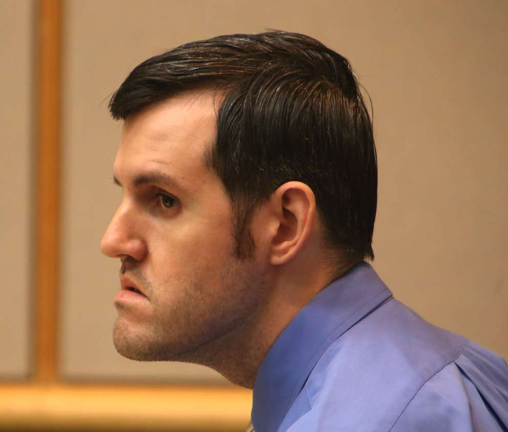 Defendant John Jonchuck listens in court to the testimony of lawyer Genevieve Torres. SCOTT KEELER | Times