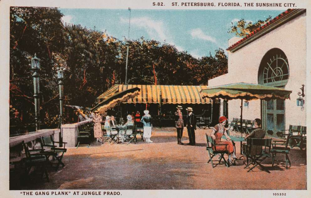 A 1920s postcard depicts the Gangplank Night Club.