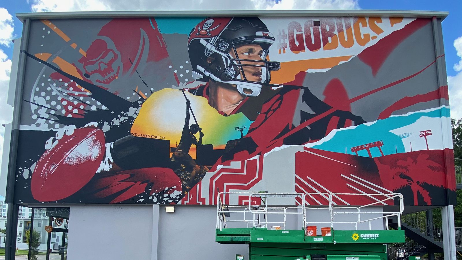 Take A Selfie With The Bucs Murals In St Petersburg