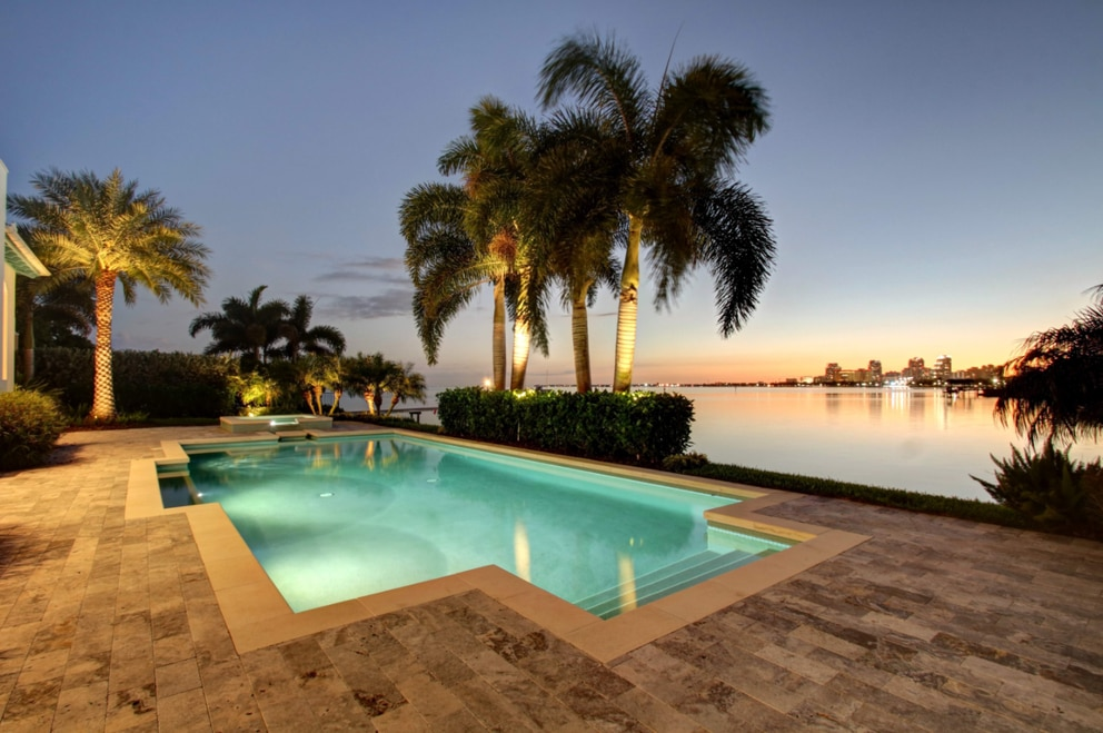This home in St. Petersburg's Snell Isle area sold for $4.075 million in June, making it the most expensive sale of a single family home that month. [Courtesy of Chris Della Penna]