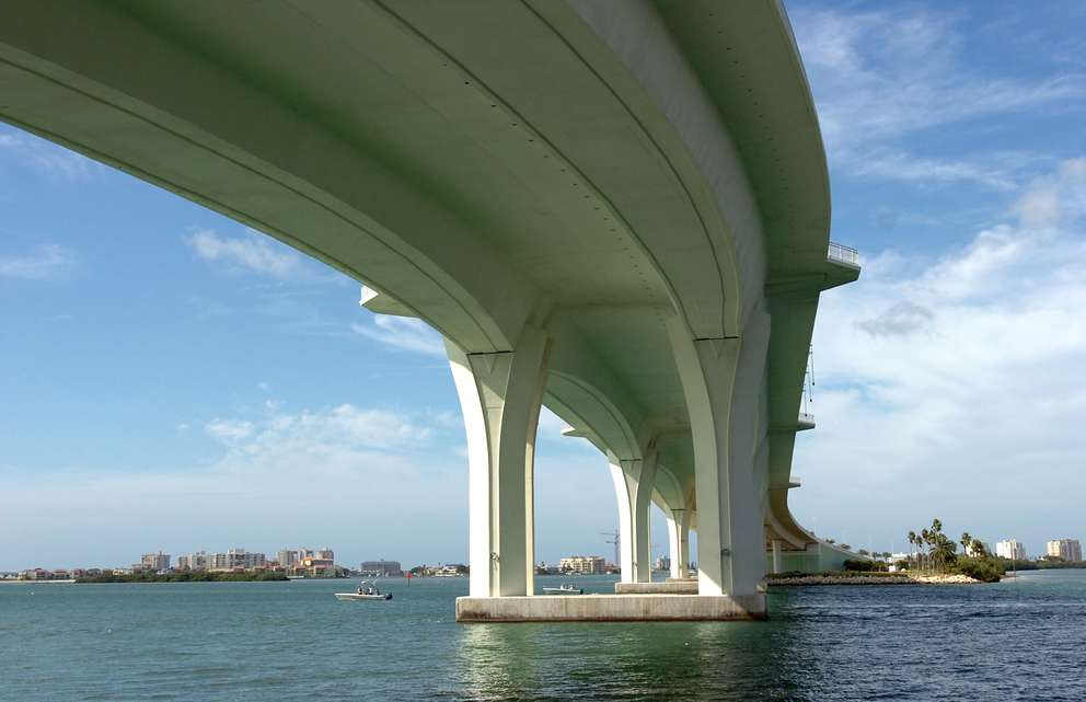 A shot from below of the Clearwater Memorial Causeway in 2007. Times (2007)