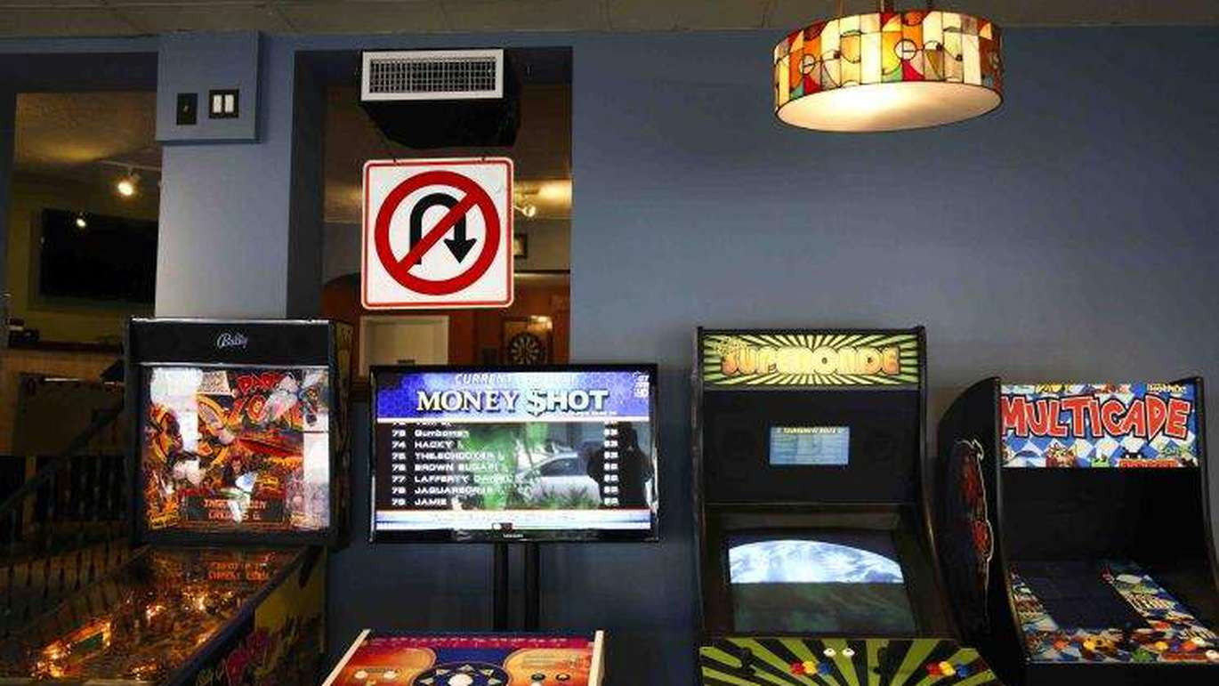 A Game Boy serves as a tap handle at Right Around the Corner in St. Petersburg. [Courtesy Right Around the Corner]