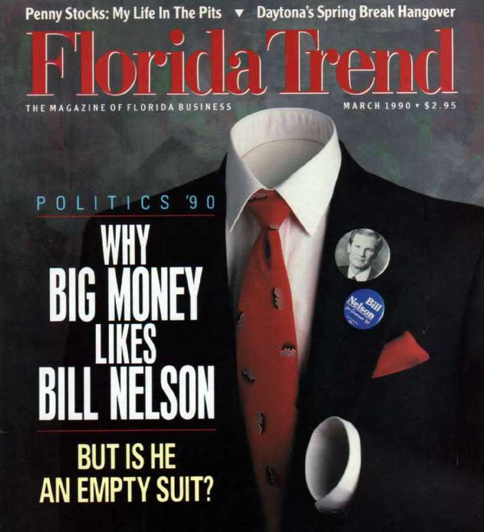But is he an empty suit? That question has been asked throughout Bill Nelson's political career. He's had to fight the perception he ducks hot-button issues or lacks signature legislative accomplishment. Yet he has lost only one election since entering politics in 1972: the 1990 Democratic primary for governor. [Florida Trend]