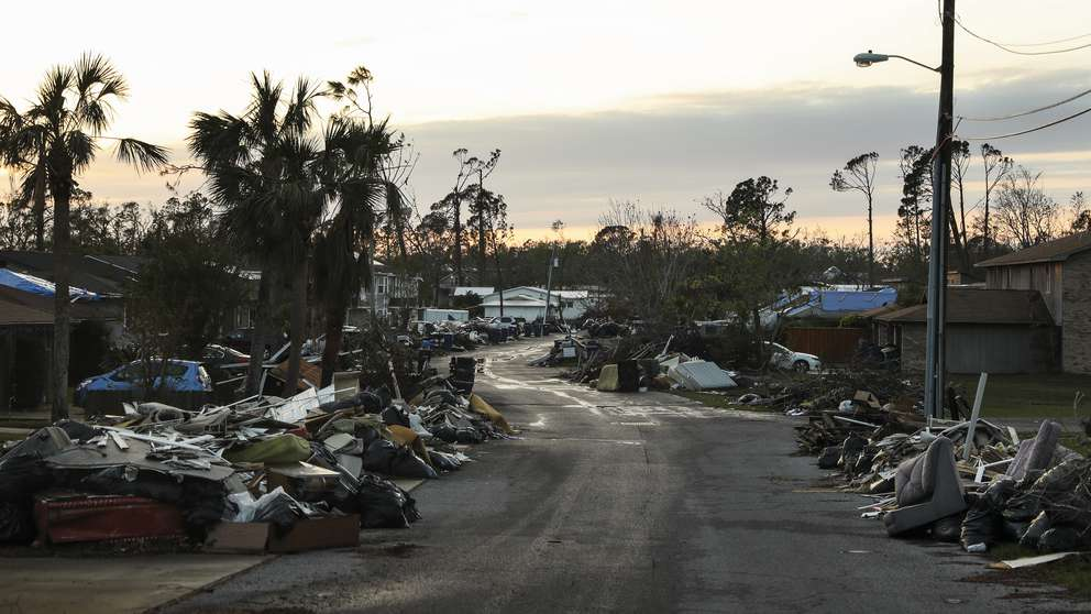 Hurricane Michael left debris along 11th Court and throughout Panama City. Just 1 in 10 of the Panhandle community's homes and businesses were left unscathed. [MONICA HERNDON | Times]