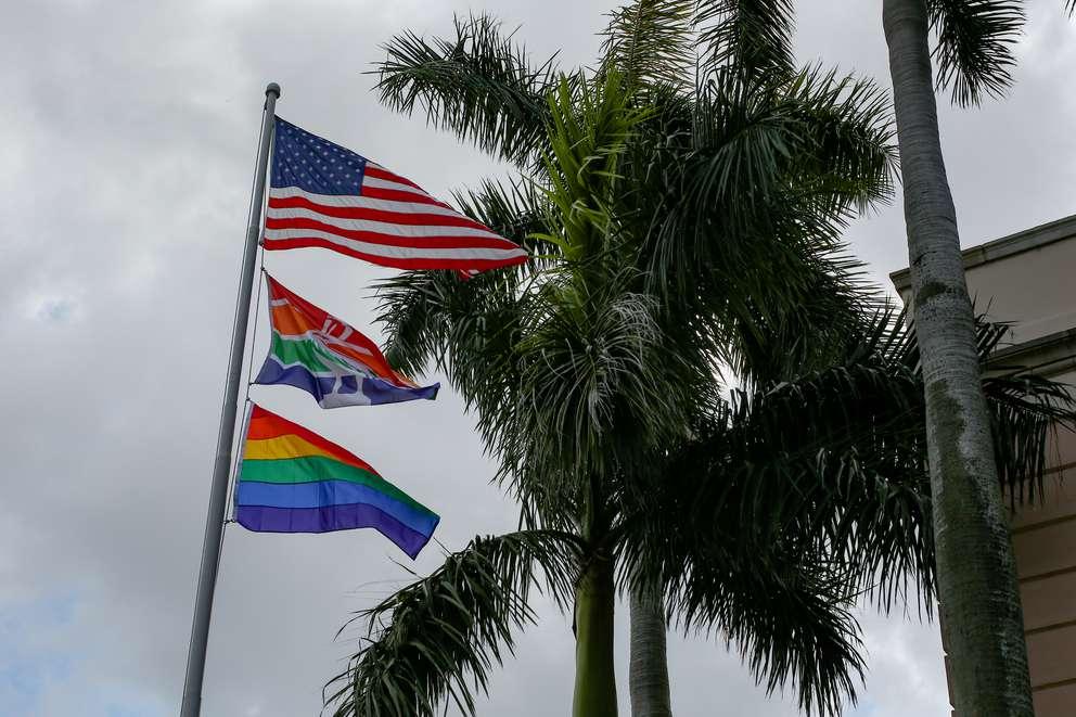 Happy pride month! Mayor Rick Kriseman raised the pride flag over city hall in St. Petersburg on June 21, 2018.
