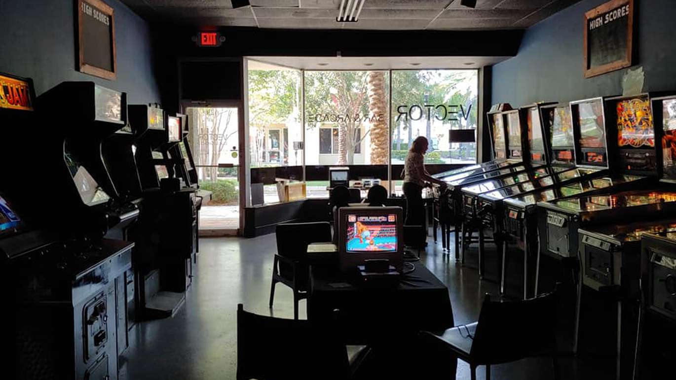 The First United Church of Nintendo setup at Vector Bar & Arcade in Clearwater includes classic console games hooked to TVs inside the bar. First United Church of Nintendo hosts the event weekly at Vector on Wednesday nights. [Courtesy of FUCN]