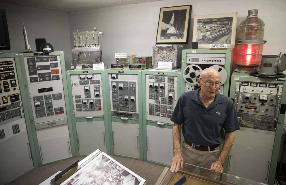 Bob Sieck talks about a control room on June 25, 2019 at the American Space Museum in Titusville, Florida. Sieck was a NASA spacecraft systems engineer. MONICA HERNDON | Times