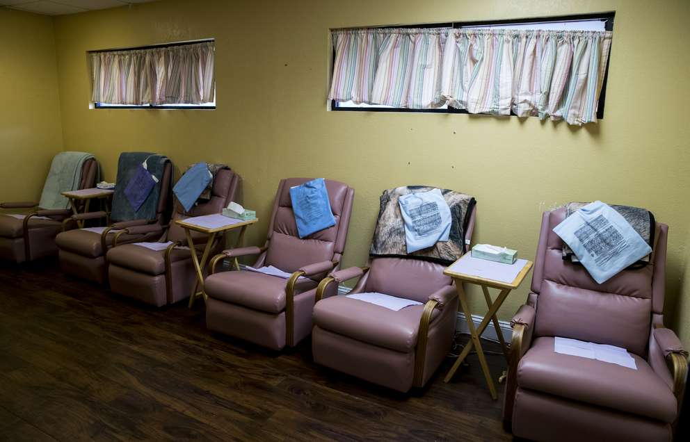 Kelly Flynn never wanted her clinics to feel sterile or steeped in shame. She went for bright walls, pink chairs and posters that say,
