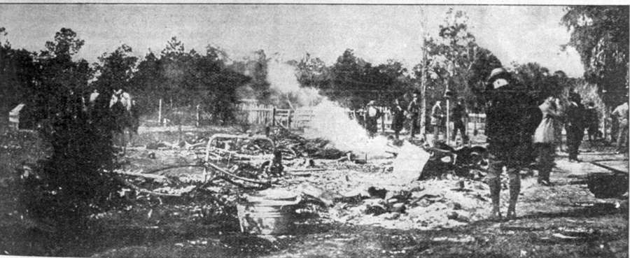 A mob of more than 300 white men torched the black town of Rosewood in January 1923, destroying churches, a school, Masonic lodge and at least 30 houses. [Times file]