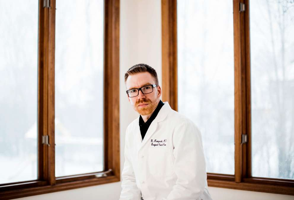After Dr. Douglas Kwazneski witnessed a surgical stapler malfunction, he surveyed leading surgeons and discovered that more than two-thirds had experienced a stapler malfunction, or knew a peer who did. (Kendra Stanley-Mills for KHN)