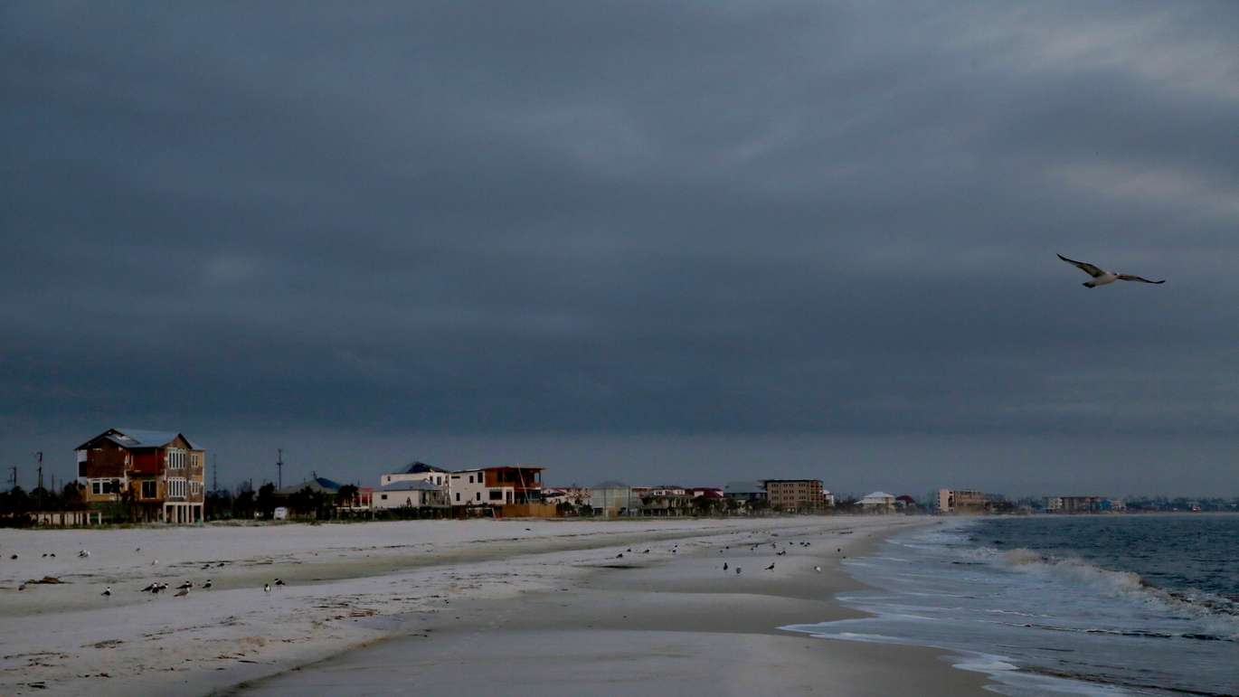 Clouds settle in over Mexico Beach five months after Hurricane Michael made landfall destroying most of the small coastal town. (DOUGLAS R. CLIFFORD | Times)