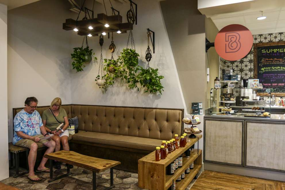 Black and Brew coffee shop at the Lakeland Public Library in Lakeland. [MARTHA ASENCIO-RHINE   Times]