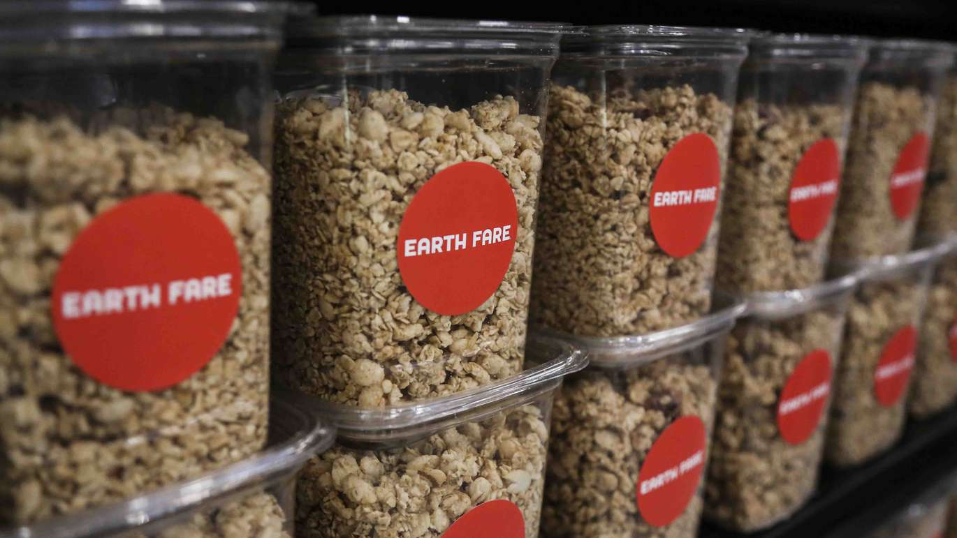 Some of the snacks available the new Earth Fare grocery store in Seminole on Monday, September 26, 2016. The new grocery store is set to open on Wednesday, September 28 in Seminole City Center. [EVE EDELHEIT | Times]