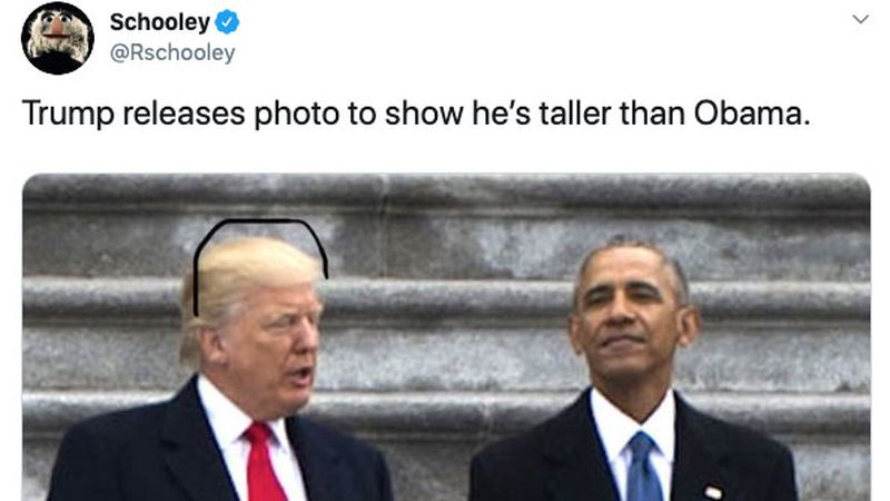 Donald Trump is taller than the Washington Monument and on Mount Rushmore? Sharpie memes say so.