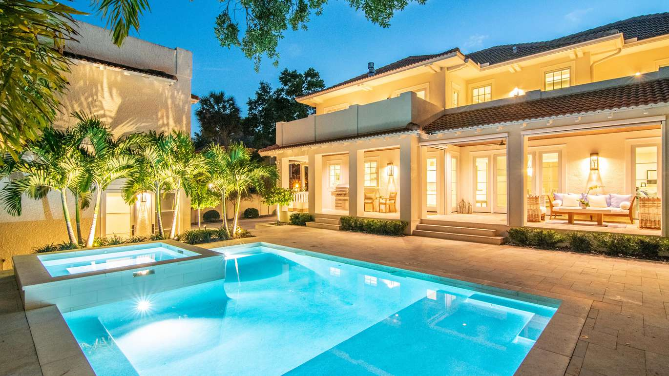 The pool and back patio (Courtesy of Judson Brady/Photo Studio Solutions)