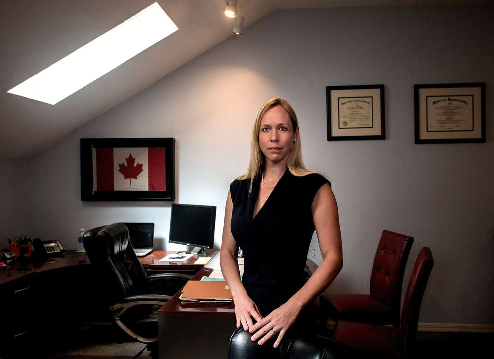Attorney Genevieve H. Torres in her office. [Times (2015)]
