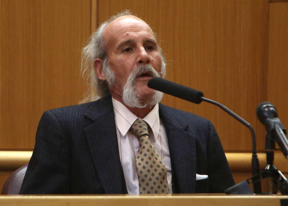 John Jonchuck Sr. testifies in the murder trial of his son, John Jonchuck Jr.. SCOTT KEELER   Times