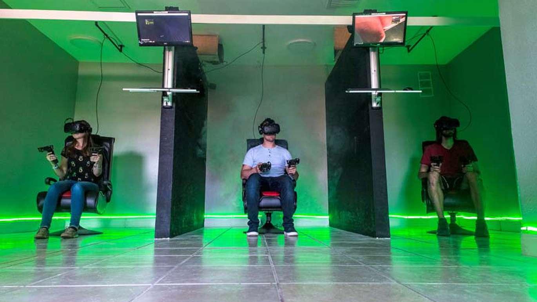 Solara-Tec in Tampa has HTC Vive virtual reality systems for gaming. [Courtesy of Solara-Tec]