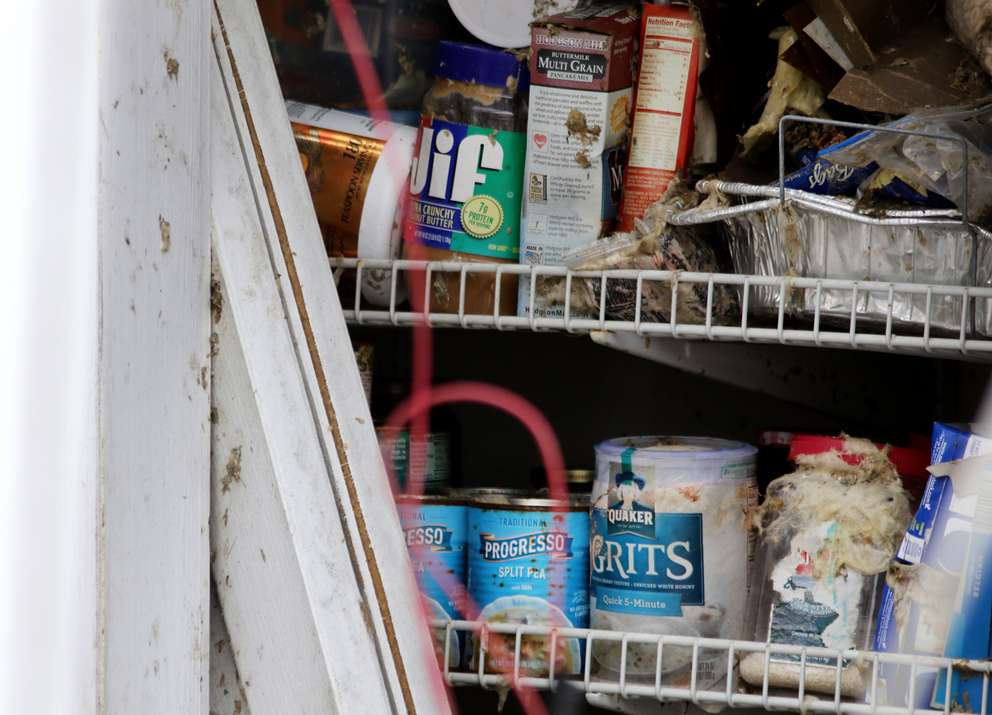 Food remains in the pantry of a destroyed Mexico Beach home. (DOUGLAS R. CLIFFORD | Times)