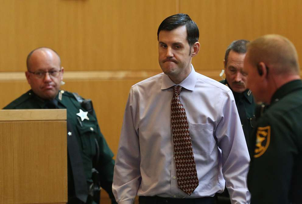 Defendant John Jonchuck is escorted into the courtroom by bailiffs during the fourth day of jury selection. [SCOTT KEELER | Times]