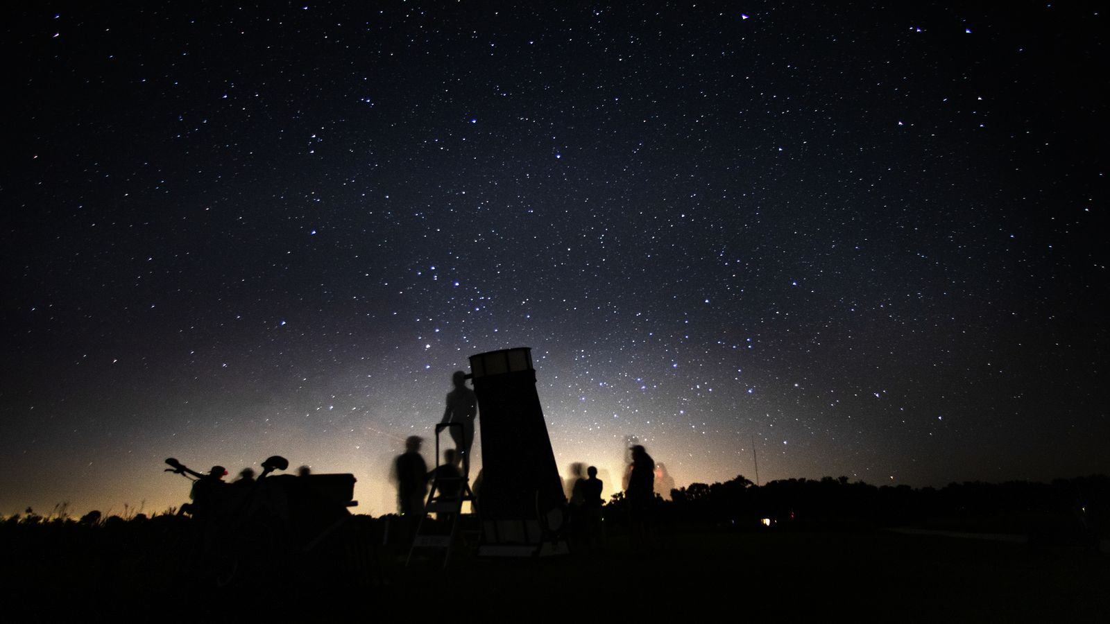 At Kissimmee Prairie Preserve, people look through a custom-made telescope owned by Jim Pickering of Fort Lauderdale.