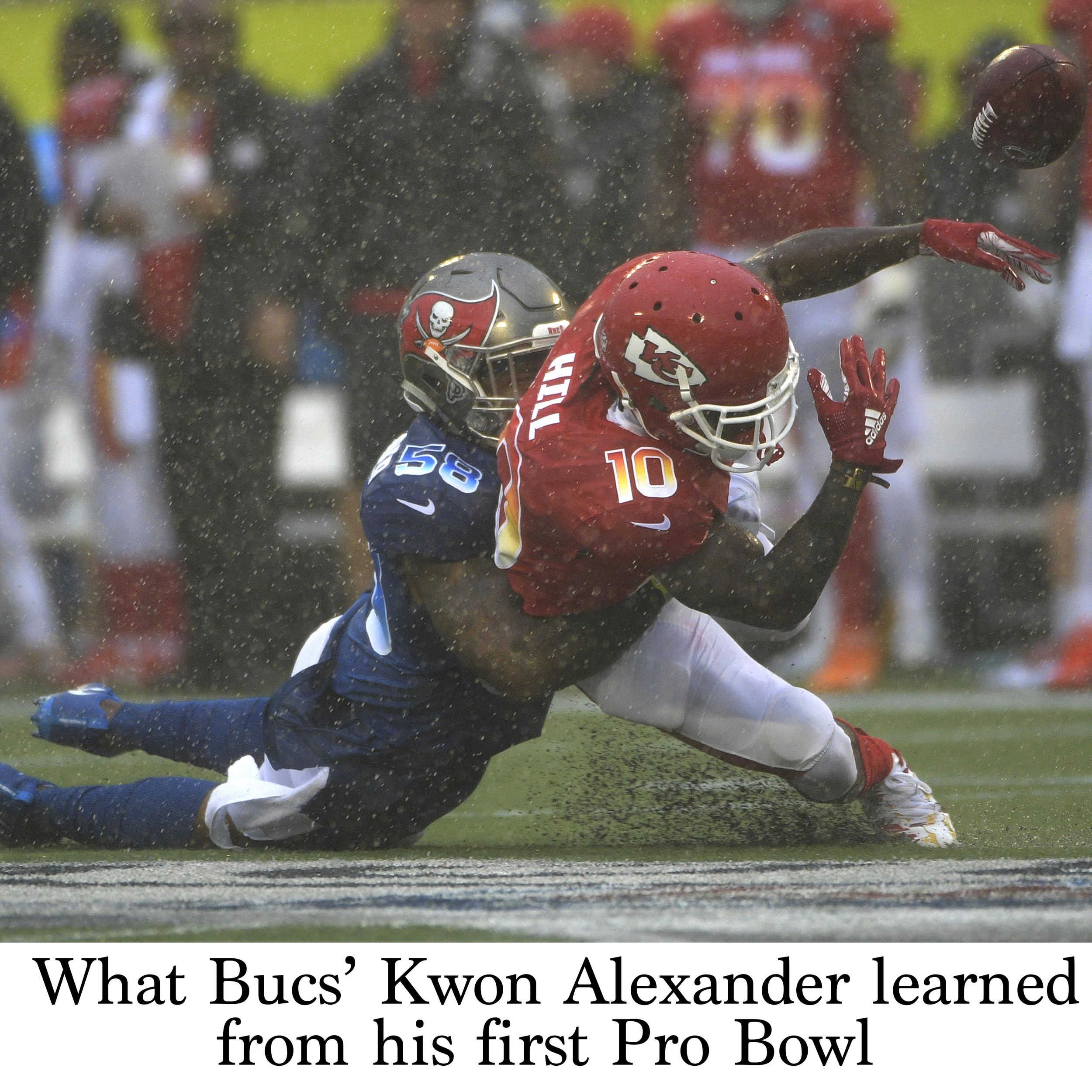promo code 77036 9381a What Bucs' Kwon Alexander learned from his first Pro Bowl