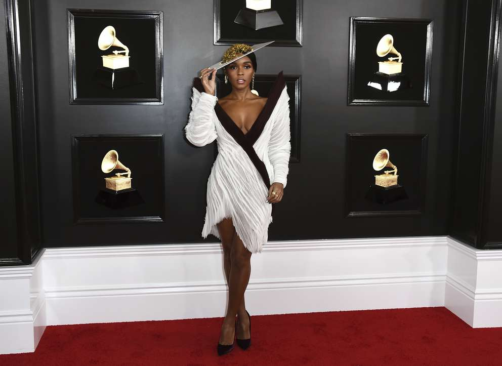 Janelle Monae arrives at the 61st annual Grammy Awards at the Staples Center on Sunday, Feb. 10, 2019, in Los Angeles. [Jordan Strauss | Invision/AP]