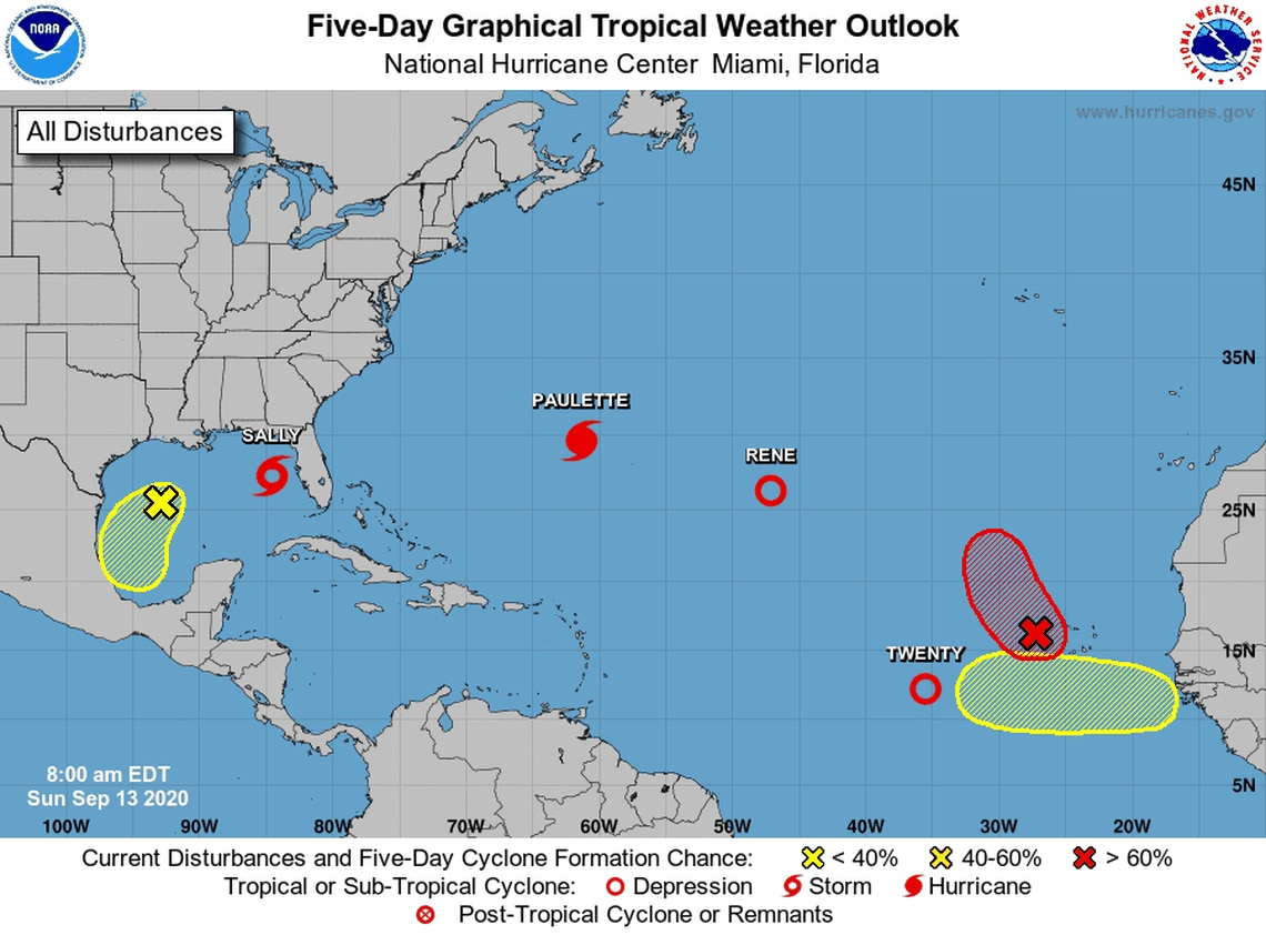 Sally Set To Become Hurricane And Threaten Louisiana Mississippi